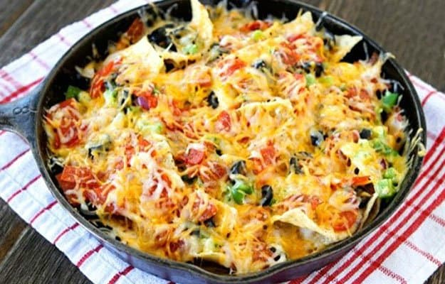 Dutch Oven Pizza Nachos | Camping Snacks Recipes
