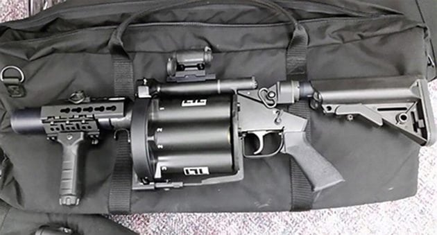Grenade Launcher Falls Out of Police Truck, Member of the Public Returns It