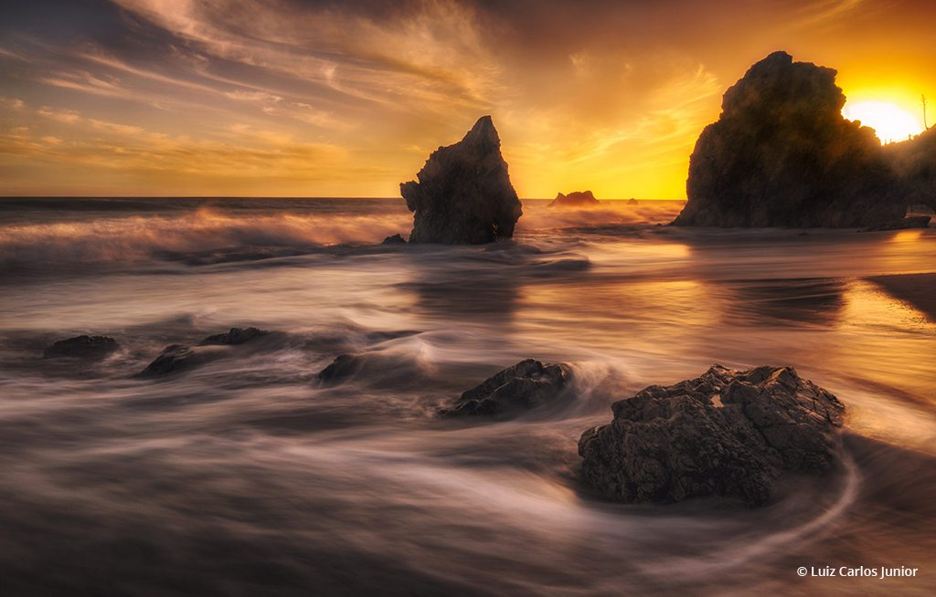 "Today's Photo Of The Day is ""Golden El Matador"" by Luiz Carlos Junior. Location: Malibu, California."