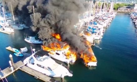 This Raging Boat Fire is No Laughing Matter