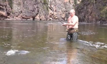Apparently, Russian President Vladimir Putin is a Big Fan of Shirtless Fishing Vacations