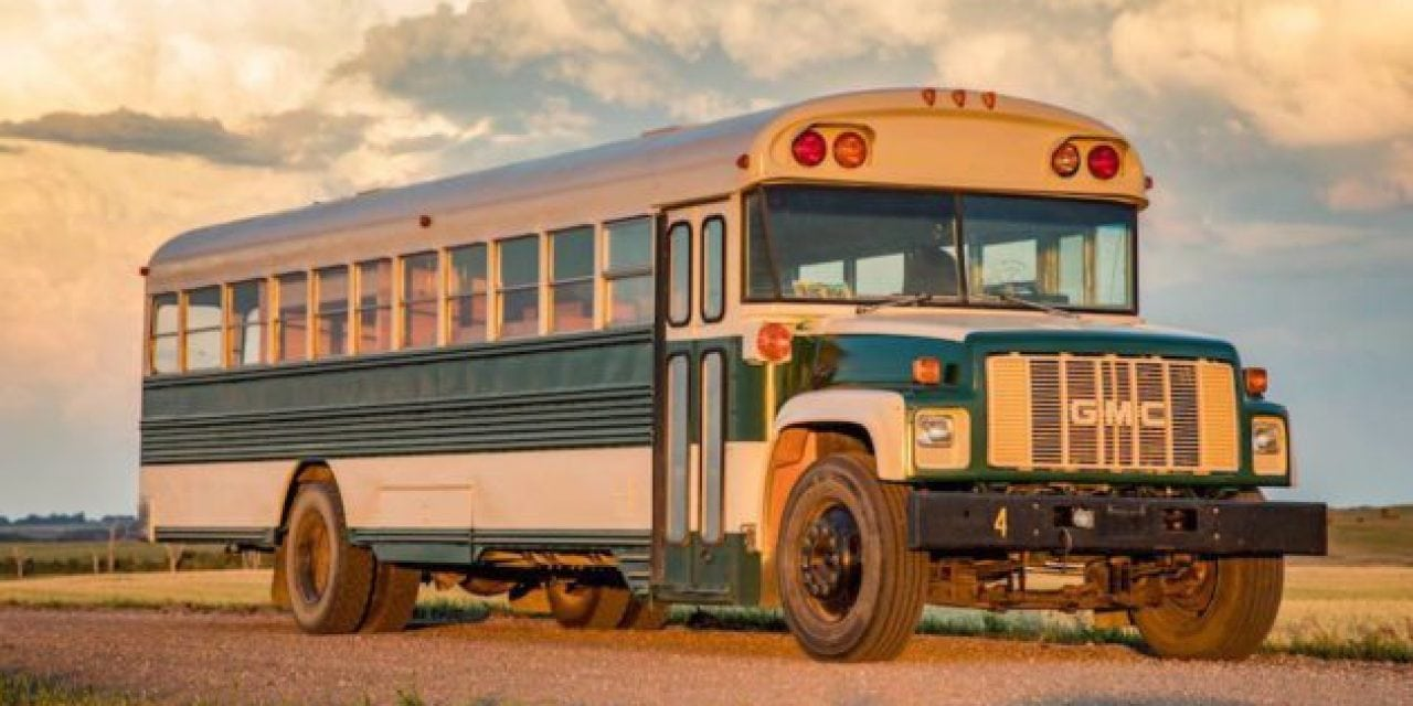 Guy Turns 65-Passenger School Bus Into the Perfect Traveling Hunting Cabin
