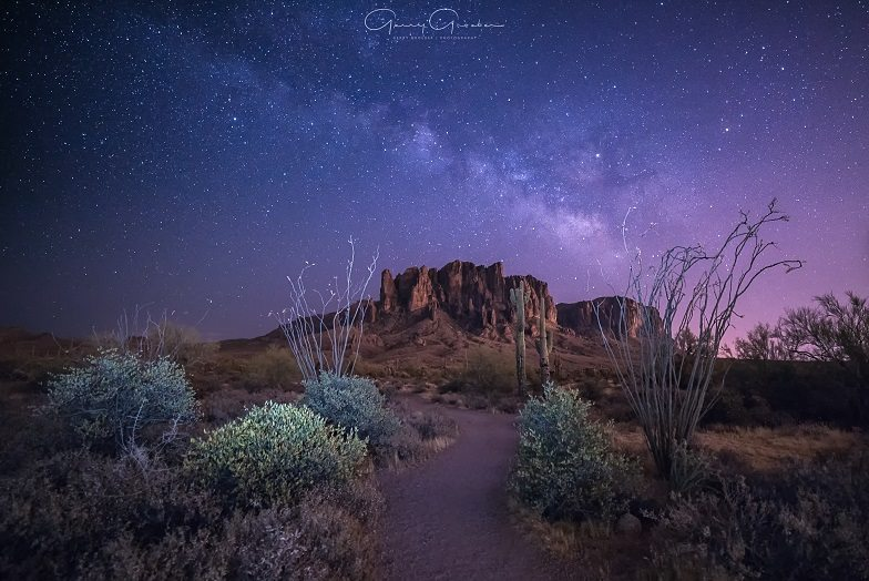 """Today's Photo Of The Day is """"Desert Nights"""" by Gerry Groeber. Location: Superstition Wilderness, Arizona."""