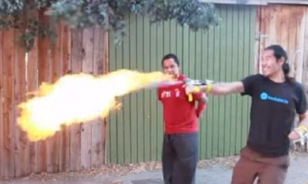 This Guy Made DIY Punch-Activated Flame Throwers, Believe That