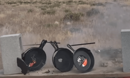 What Can a .50 Cal Do vs. 6 Cast Iron Skillets?