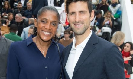 Djokovic Attends Lacoste Show in Paris