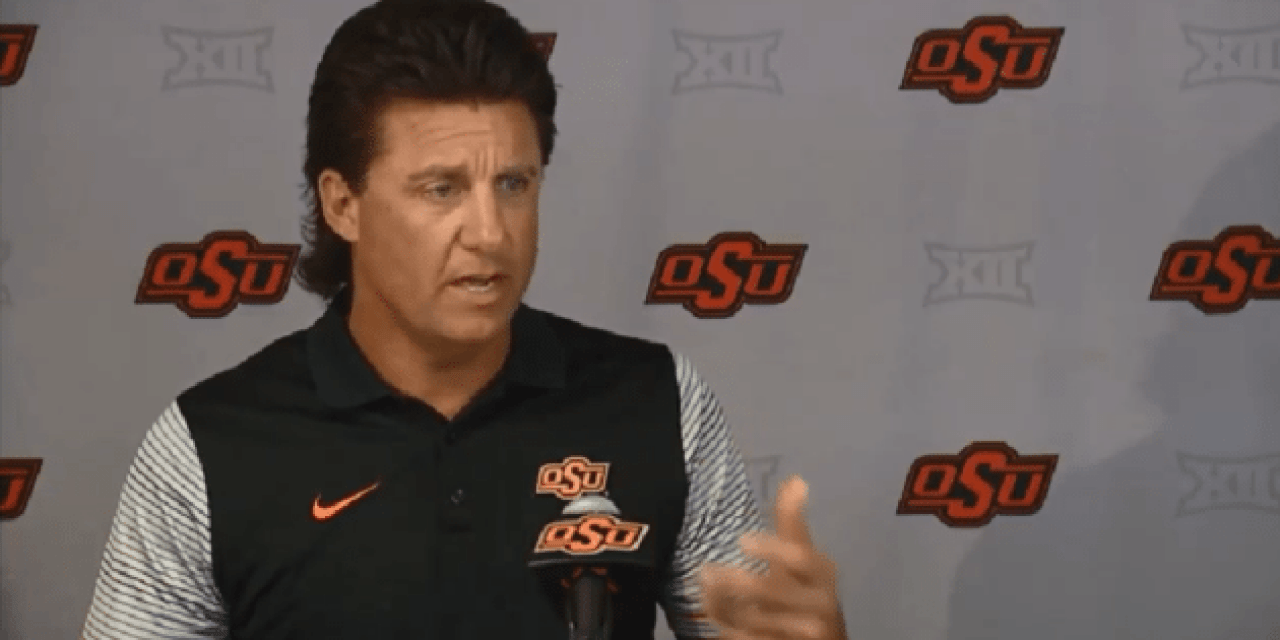 Instead of Watching the Oklahoma-Ohio State Game, Coach Mike Gundy Went Turtle Hunting