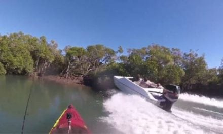Video: One Heck of a Close Call for This Kayak Angler