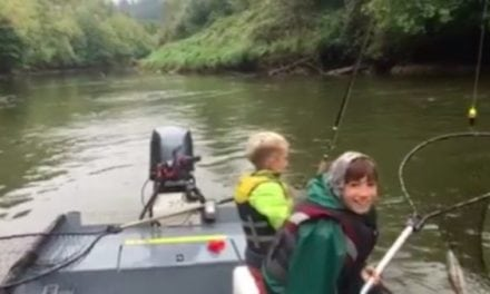 Daily Smile: Brothers Land Nice Coho While Dad Calmly Gives Advice