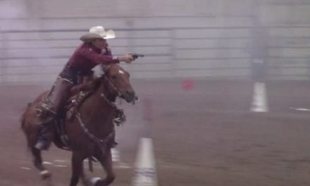 Here's Why Kenda Lenseigne Is a Champion of Cowboy Mounted Shooting