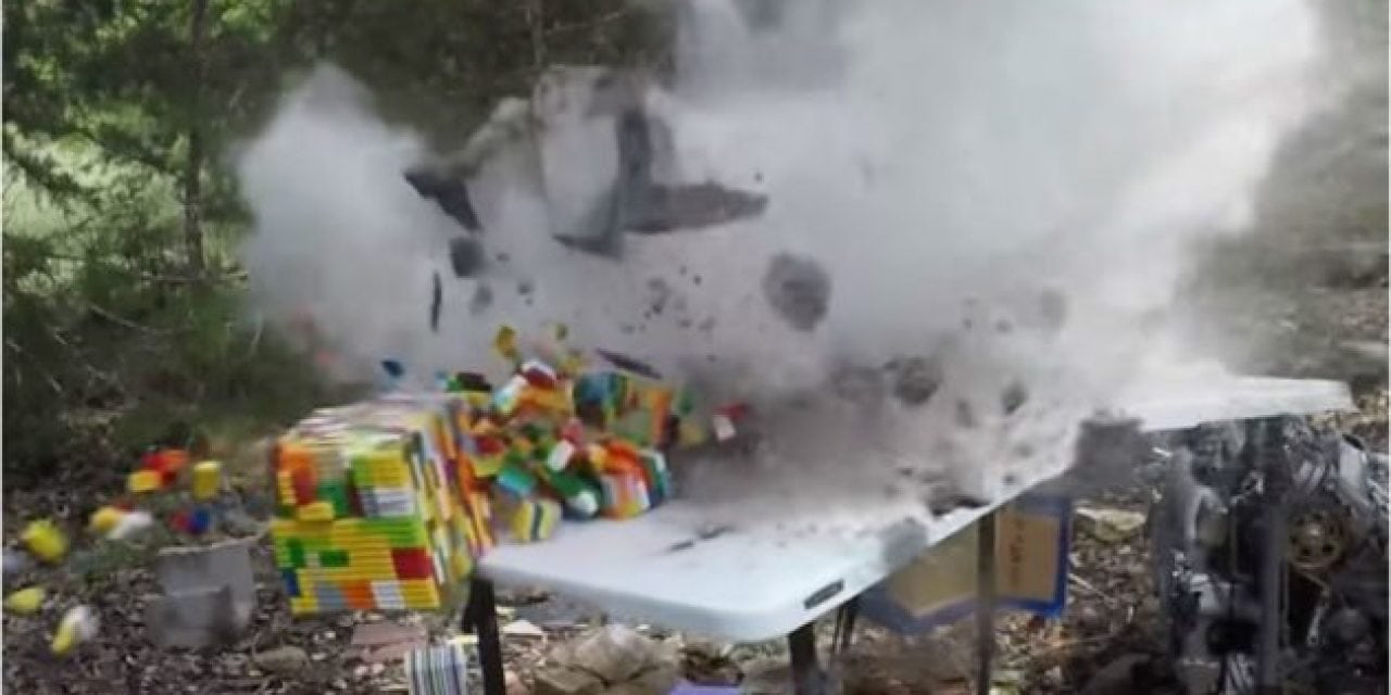 Video: How Well do Legos Work for Stopping Bullets?