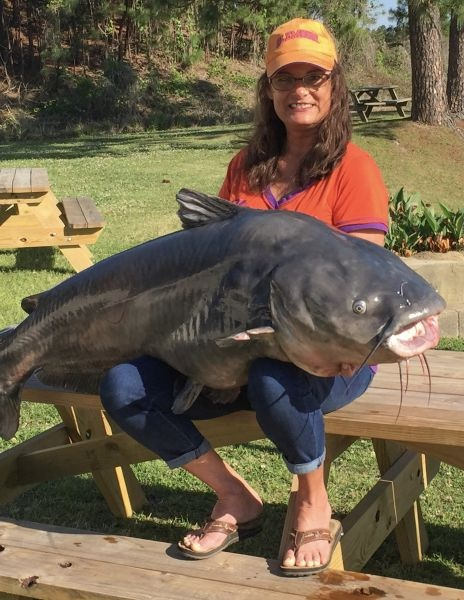 113.8-pound catfish caught on Lake Moultrie
