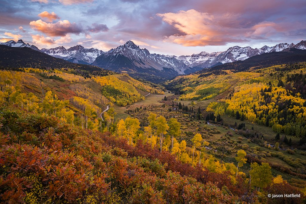 Autumn Sunrise Over Sneffels Range, San Juan Mountains, Colorado