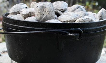 Easy Dutch Oven Peach Cobbler Perfect for Camping or Hunting Trips