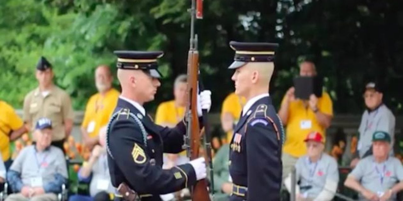 Rifle Inspection Ceremony at Arlington National Cemetery Will Leave You In Awe