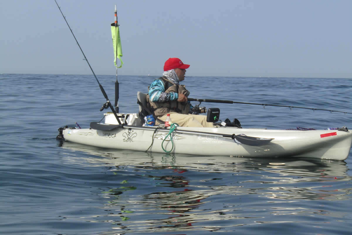 A well appointed kayak is a stable, safe and fun platform for catching big fish