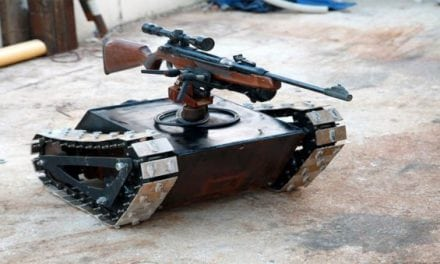 When You Need a Homemade Rifle-Mounted Tank, Remember This Video