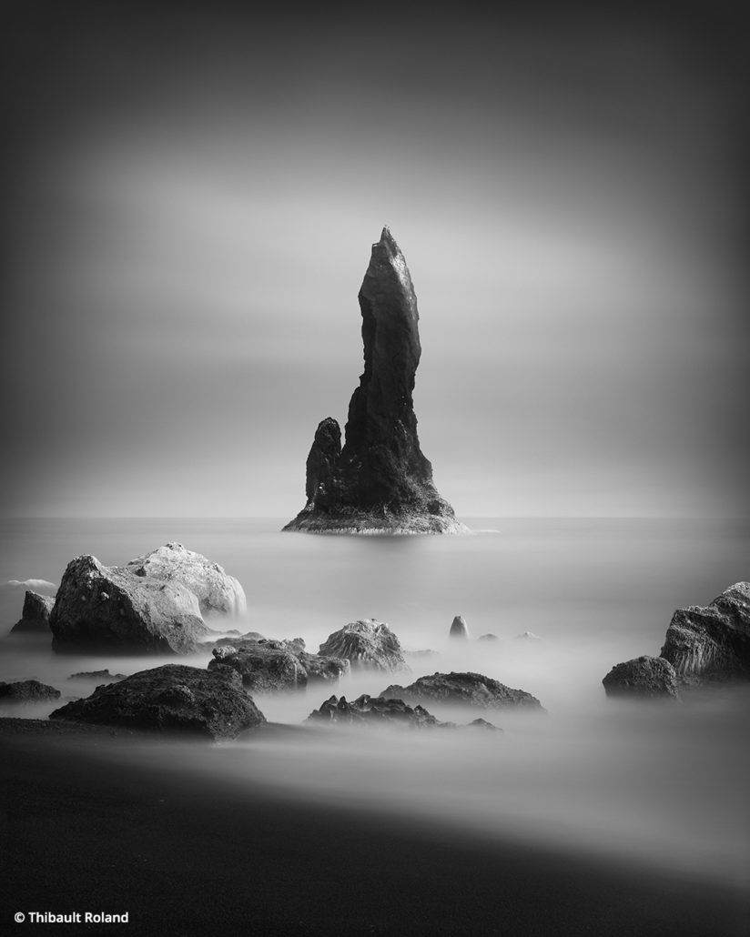 Black-and-White Long Exposures, Black Sand Beach, Iceland