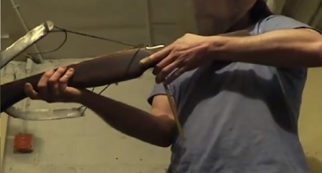 make a crossbow from garbage