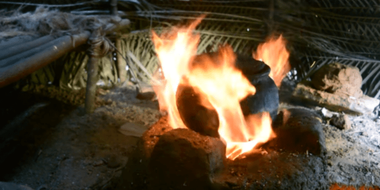 Primitive Technology: Making a Fired Clay Pot to Boil Water