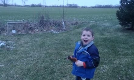 The Best Christmas Ever: 6-Year-Old Boy Shoots First BB Gun