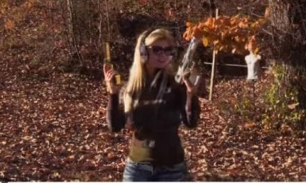 This Lady Fires Two Desert Eagle Pistols at the Same Time