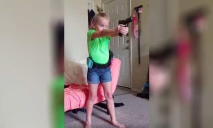 Watch a Young Lady Who Knows How to Control Her Firearm