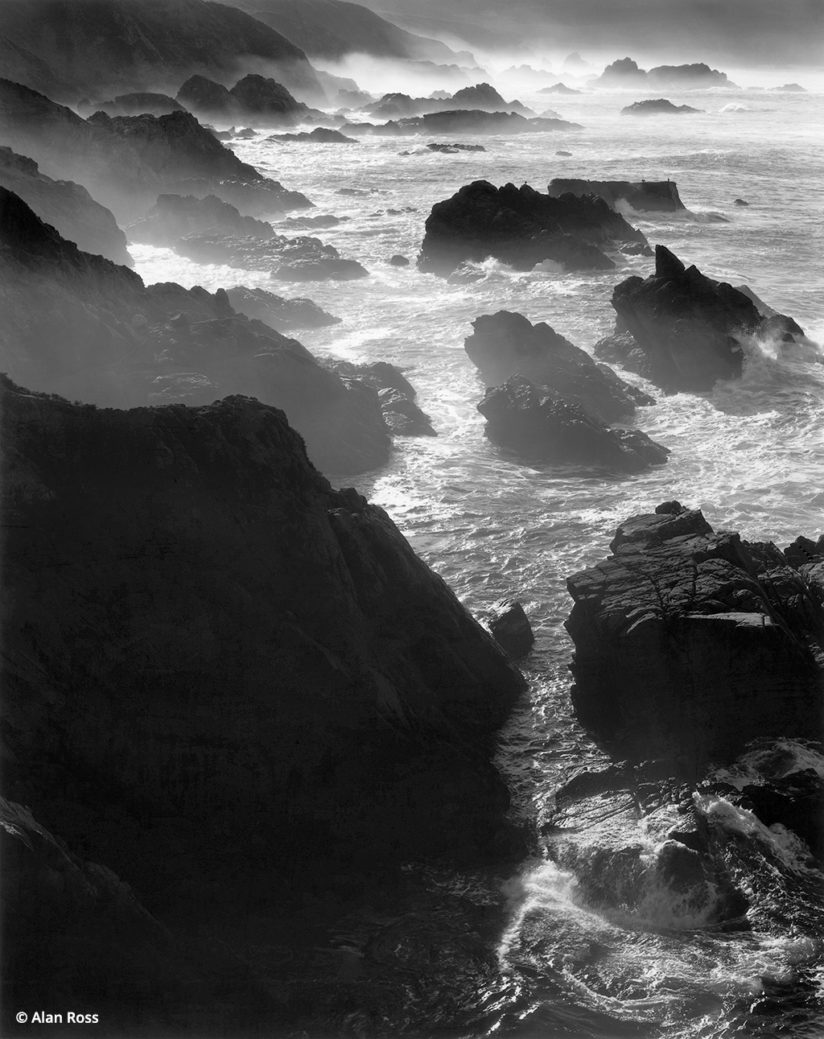 Big Sur in black-and-white