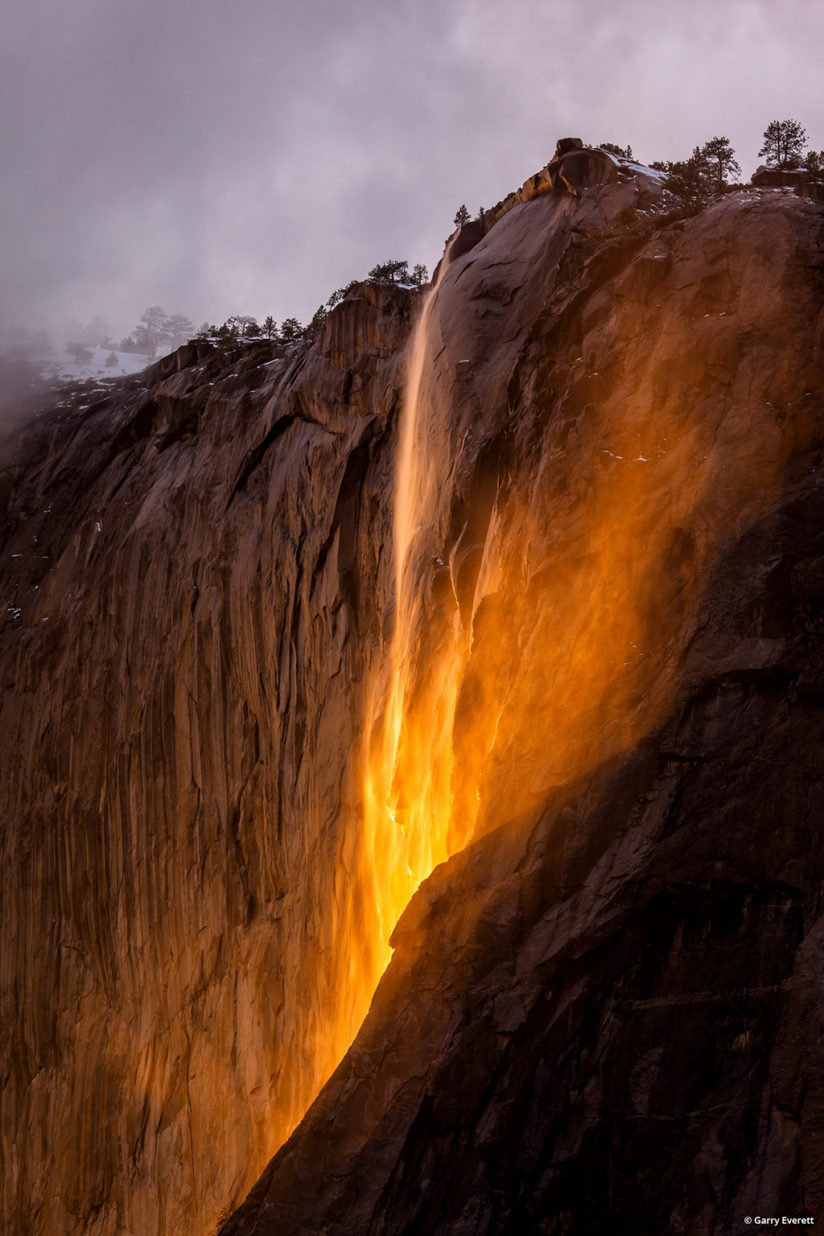 "Today's Photo Of The Day is ""Fire Water"" by Garry Everett. Location: Horsetail Falls, Yosemite National Park, California."