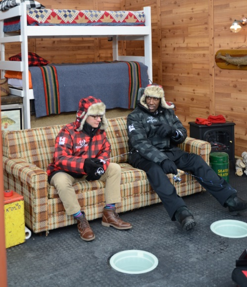 Roof Top Ice Fishing With Rapala At This Year Super Bowl
