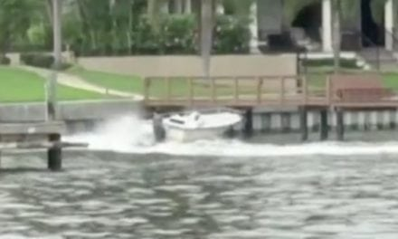 Runaway Boat Crashes into Dock at Full Speed