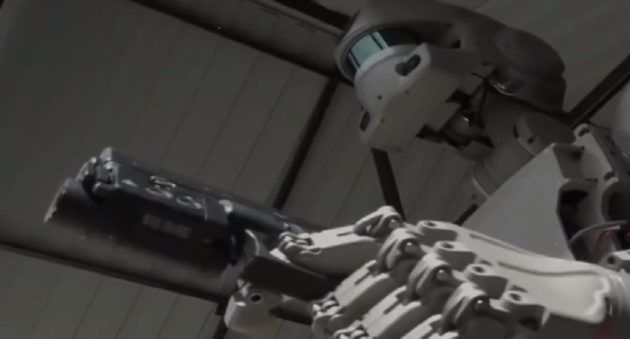 humanoid robot that can shoot guns