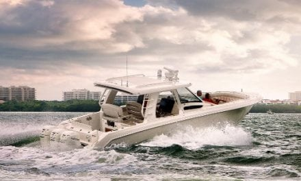 350 Realm From Whaler, A Miami Boat Show Winner