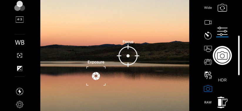 ACDSee Pro For iOS Camera Mode default controls