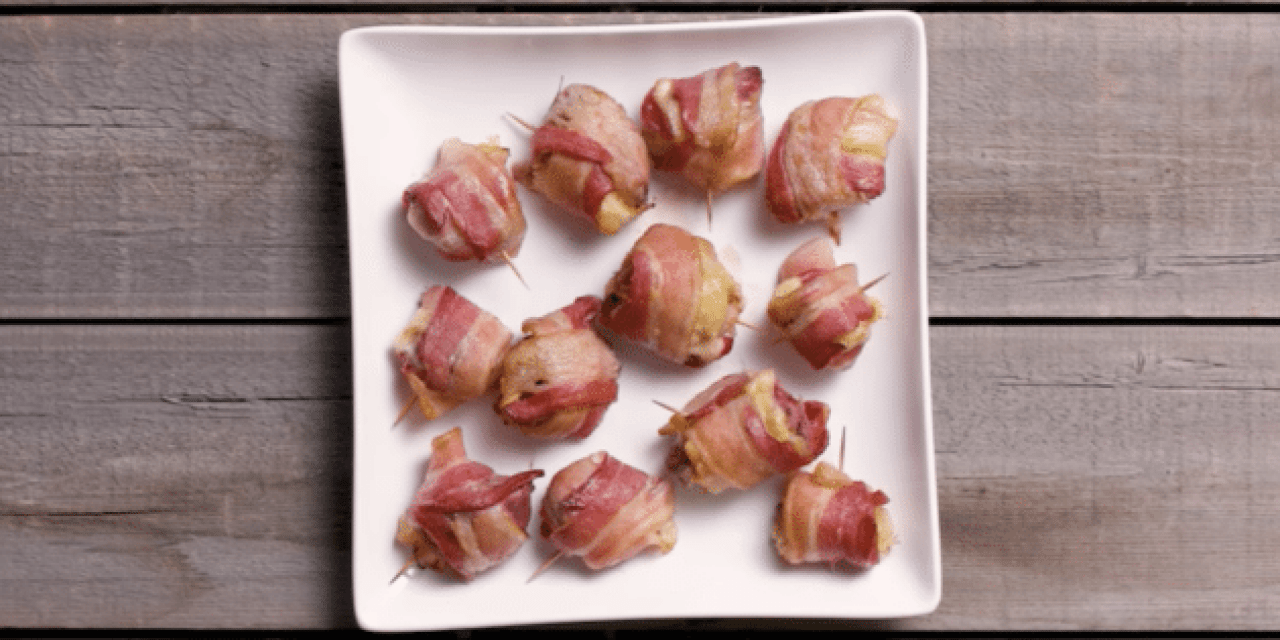 Bacon-Wrapped Duck Reuben Bites? Yes, Please!