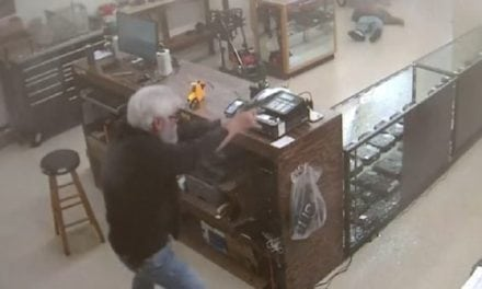 GRAPHIC: Gun Shop Robber Gets Instant Karma