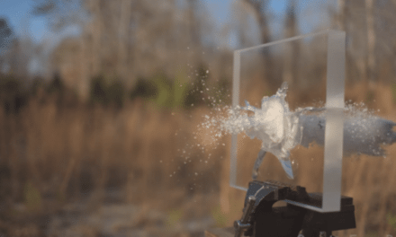 Here's a .50 Cal Hitting a Ballistic Glass Window in Super Slo-Mo