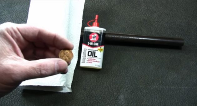 remove gun rust with a copper penny