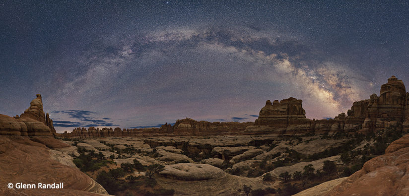 processing night photography - panorama of the milky way