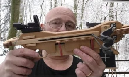 Video: The Slingshot Channel Guy Built a Repeating, Double-Limb Crossbow Pistol