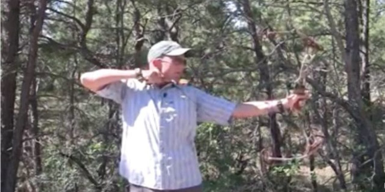 Compound Bow Explodes and Smashes Man's Face
