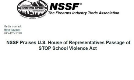 NSSF Praises U.S. House of Representatives Passage of STOP School Violence Act