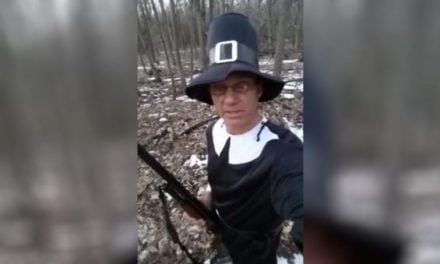 Did This 'Pilgrim' Just Shoot a Turkey without Camouflage?