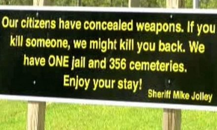 Epic Concealed Carry Sign Goes Viral