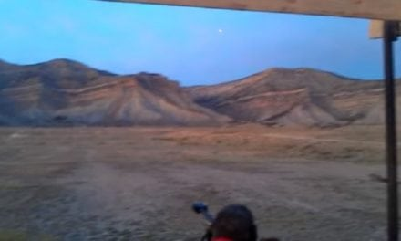 Fired .50 BMG Tracer Bullet Makes an Interesting Journey