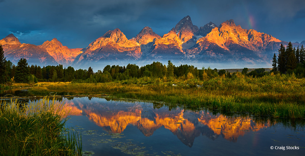 "Today's Photo Of The Day is ""Teton Treat"" by Craig Stocks. Location: Grand Teton National Park, Wyoming."