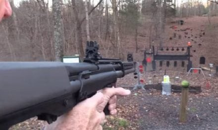 Slug Shooting From a Keltec KSG-25 Shotgun Looks Incredibly Fun