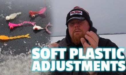 Soft Plastics Adjustment on the Ice (Video)