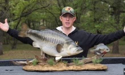 Video: Check Out Lake Fork Guy's Epic Personal-Best Replica Bass Mount