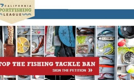Californian anglers warned: Lead ban battle not over yet